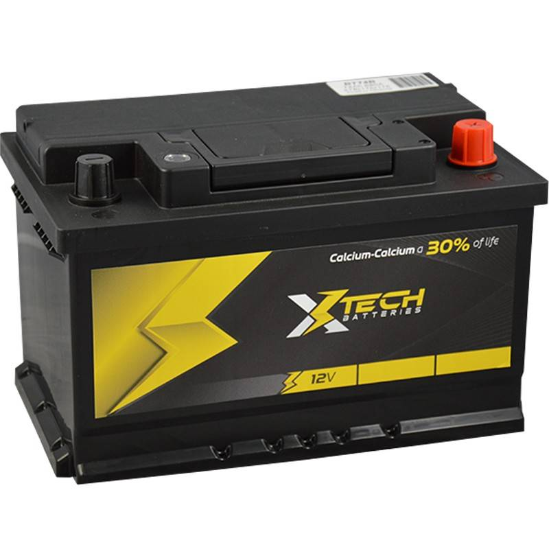 bater a xtech bt74a 12v 74ah 680a bater as para coche. Black Bedroom Furniture Sets. Home Design Ideas