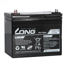Batería Long de GEL 12V. 36Ah.