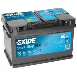 Batería Exide 12V. 65Ah. EL652