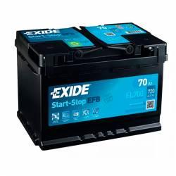 Batería Exide 12V. 70Ah. EL700