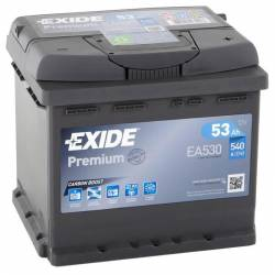 Batería Exide 12V. 53Ah. EA530