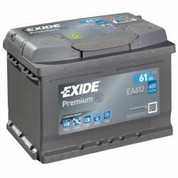 Batería Exide 12V. 61Ah. EA612