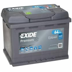 Batería Exide 12V. 64Ah. EA640