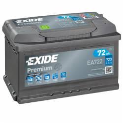 Batería Exide 12V. 72Ah. EA722