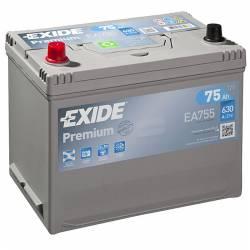 Batería Exide 12V. 75Ah. EA755