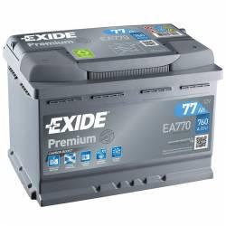 Batería Exide 12V. 77Ah. EA770