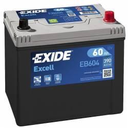 Batería Exide 12V. 60Ah. EB604