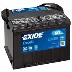 Batería Exide 12V. 60Ah. EB608