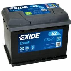 Batería Exide 12V. 62Ah. EB620