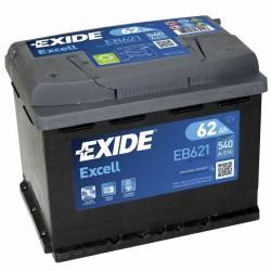 Batería Exide 12V. 62Ah. EB621