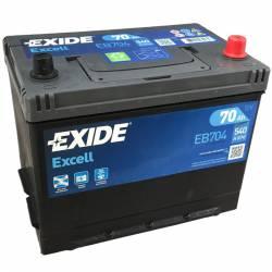 Batería Exide 12V. 70Ah. EB704