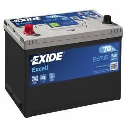 Batería Exide 12V. 70Ah. EB705
