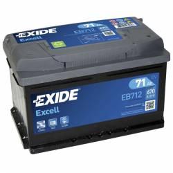 Batería Exide 12V. 71Ah. EB712