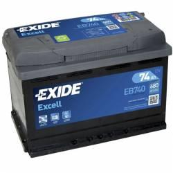 Batería Exide 12V. 74Ah. EB740