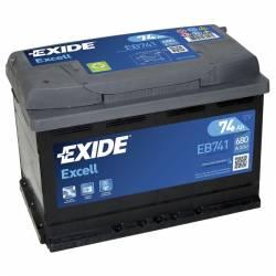 Batería Exide 12V. 74Ah. EB741