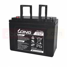 Batería LONG de GEL 12V. 62Ah.