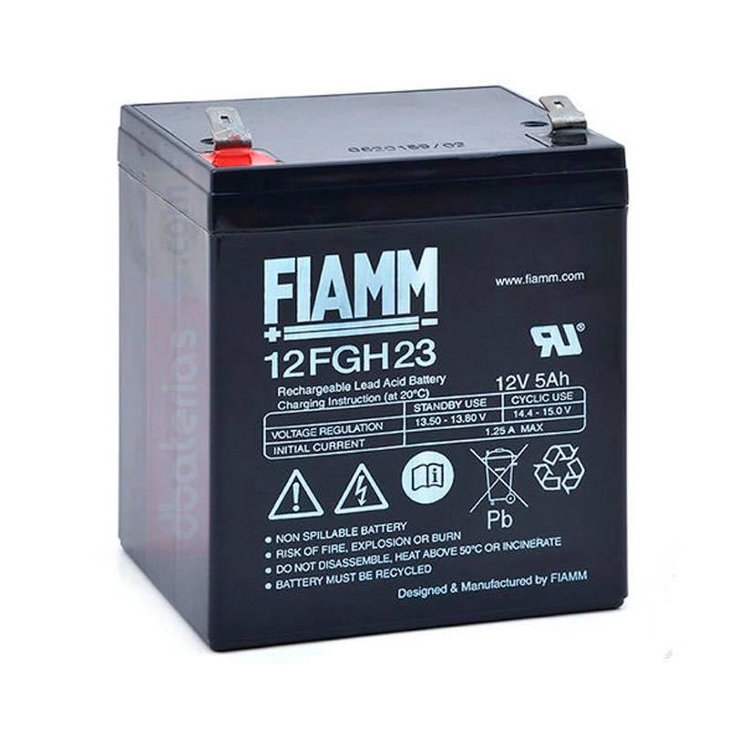 Batería FIAMM alta descarga 12FGH23 12V. 5Ah.