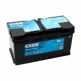Batería AGM para coche con sistemas start-stop. Exide TK950 12V. 95Ah. en dbaterias.com